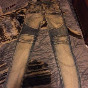 Balmain jeans.